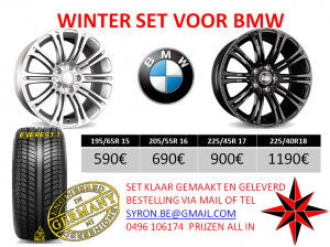 WINTER SET VOOR BMW